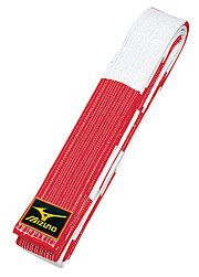 Mizuno Red & White Master Belt